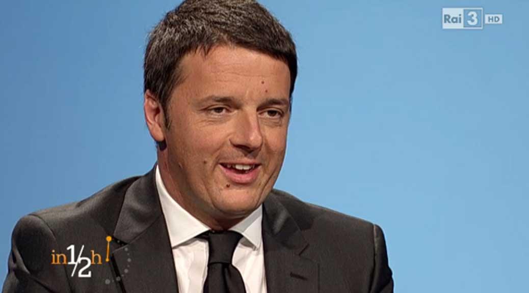 Tasse, la grande balla di Renzi in diretta a In mezz'ora