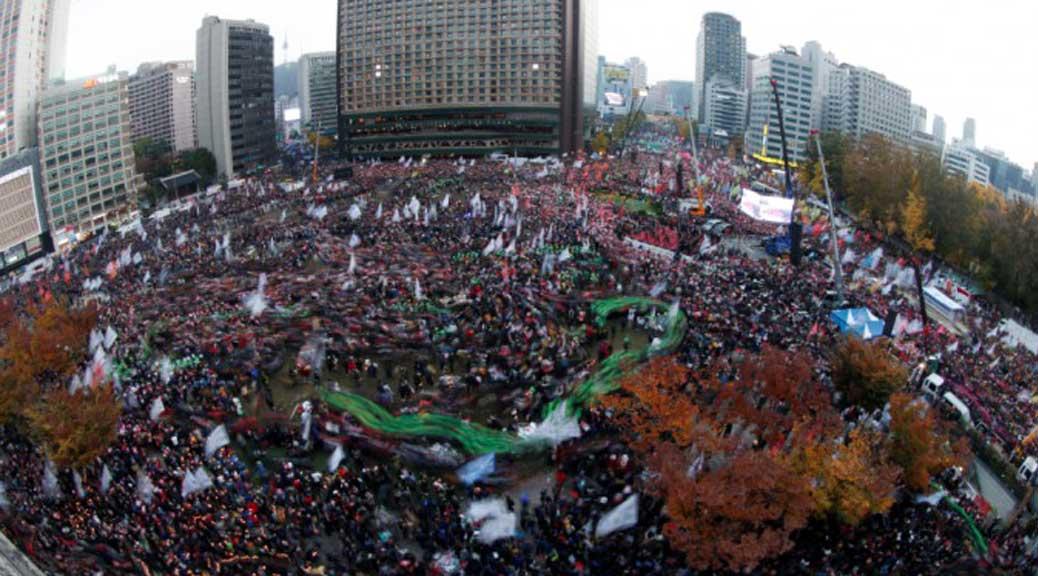Corea del Sud: 1 milione in piazza per chiedere le dimissioni della presidente Park