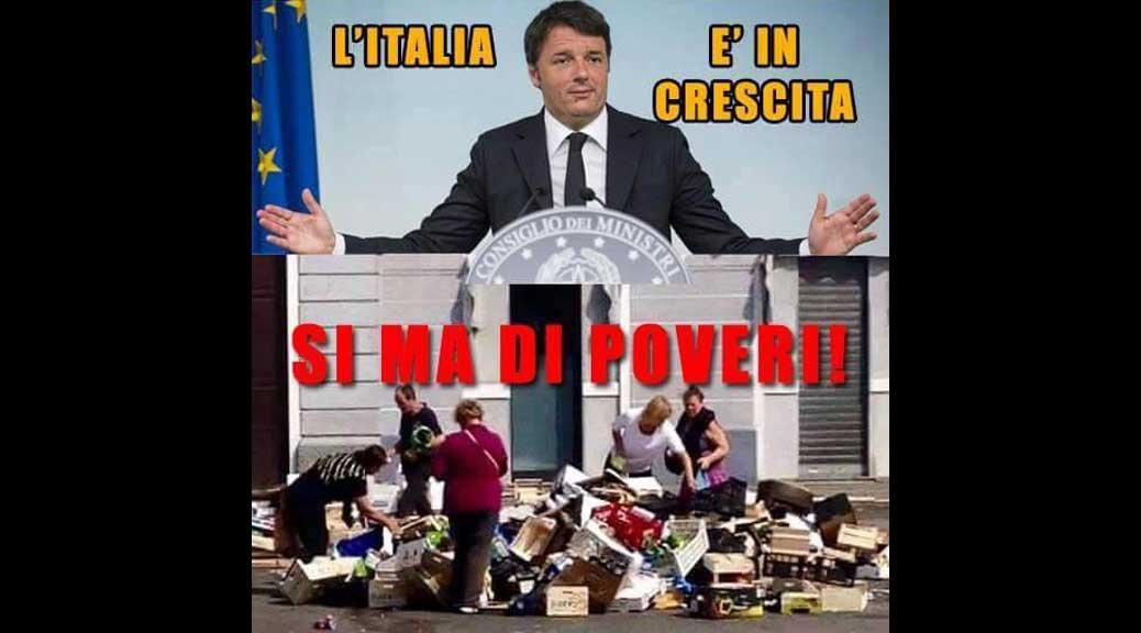 L'Italia cresce, sì ma di poveri
