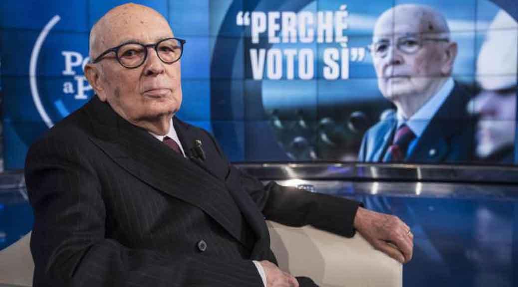 Napolitano da Vespa: 'Non si vota per tagliare il numero dei parlamentari'