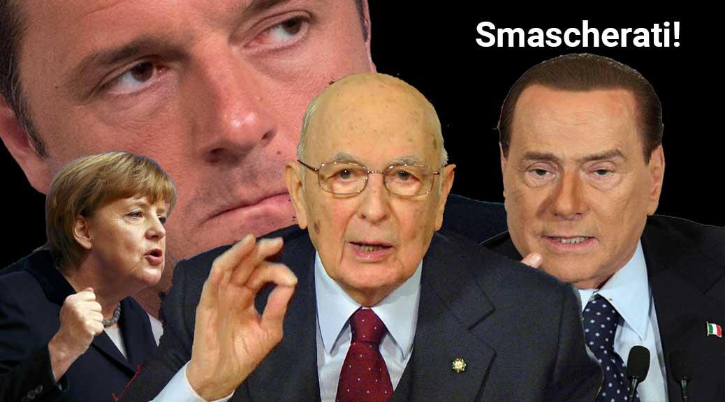 Renzi, Berlusconi, Merkel e Napolitano messi all'angolo: li abbiamo smascherati senza pietà