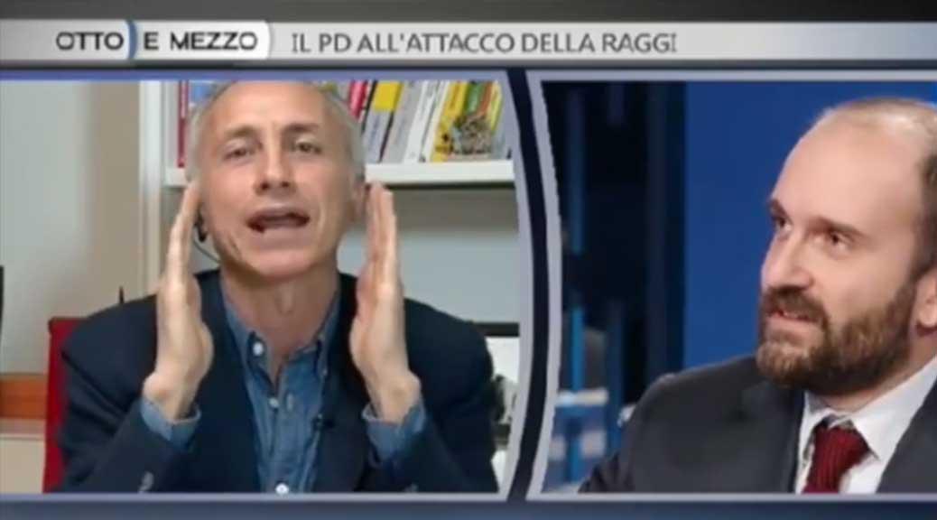 Orfini del Pd difende Buzzi, Travaglio lo massacra in diretta tv