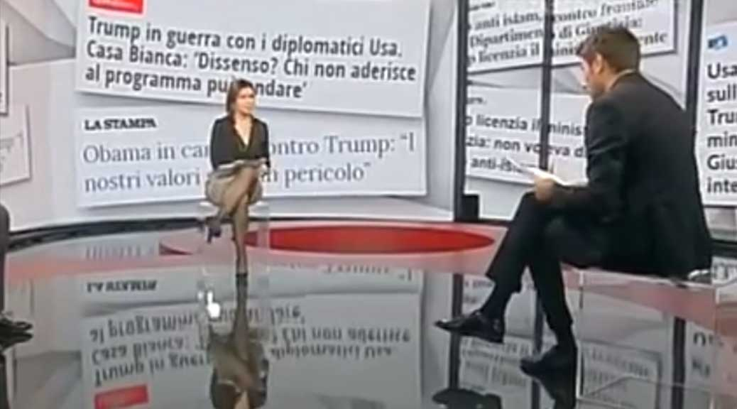 Di Battista mette KO la Berlinguer: sui clandestini Clinton faceva come Trump