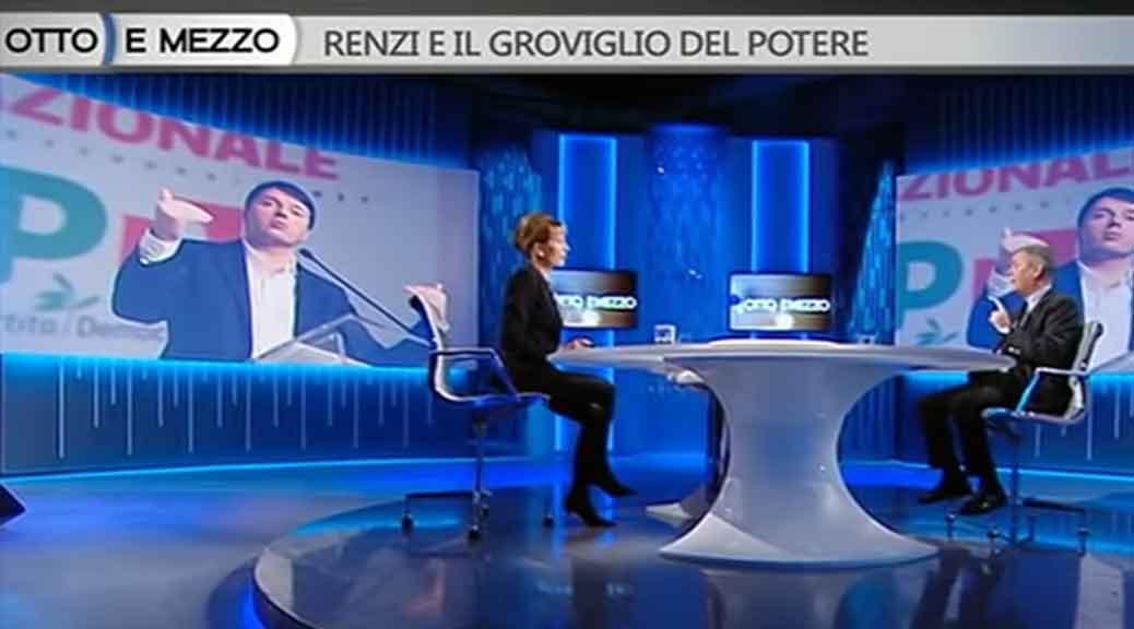 Ezio Mauro scarica Renzi a Otto e Mezzo
