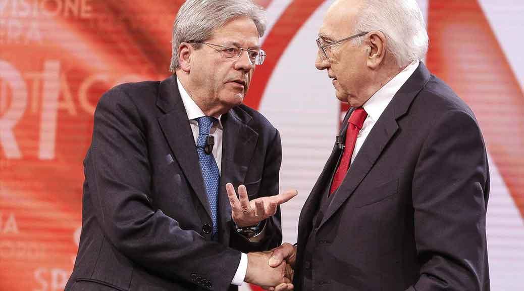 Gentiloni da Pippo Baudo: 'Avanti fino al 2018 e fiducia al ministro Lotti'