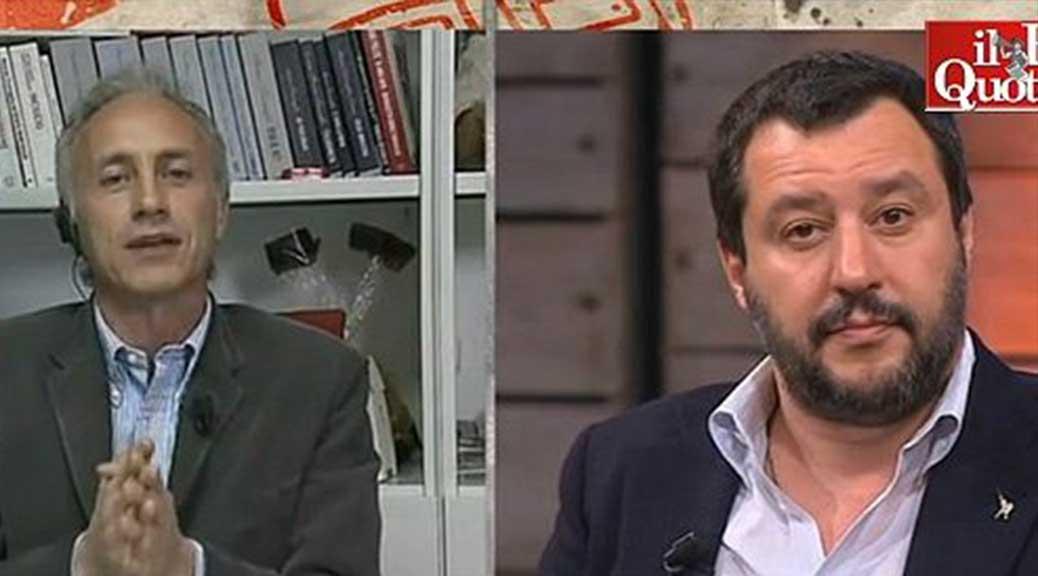 Salvataggio Minzolini, Travaglio sbugiarda Salvini: 'Minzolini NON è stato condannato da un giudice che faceva politica'