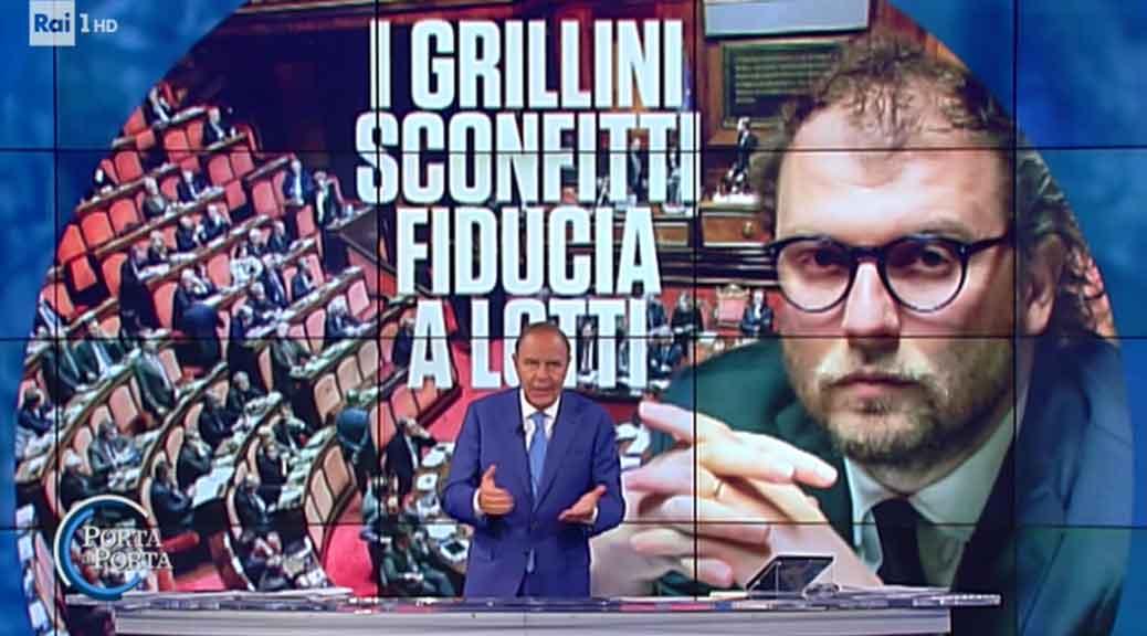 A Porta a Porta Vespa annuncia la 'sconfitta dei grillini', ma la verità è un'altra
