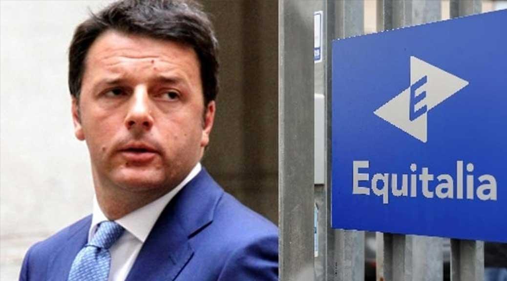 Renzi festeggia per la sanatoria di Equitalia, ma ecco la verità che non vi racconta