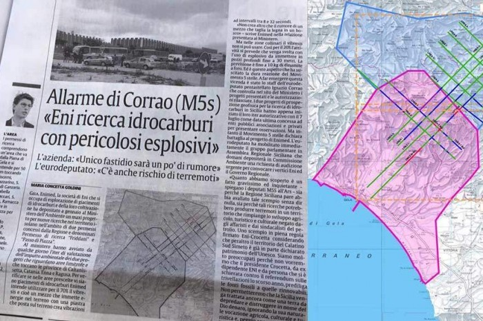 L'allarme del 5 Stelle Corrao: 'Ricerca idrocarburi Eni con pericolosi esplosivi'