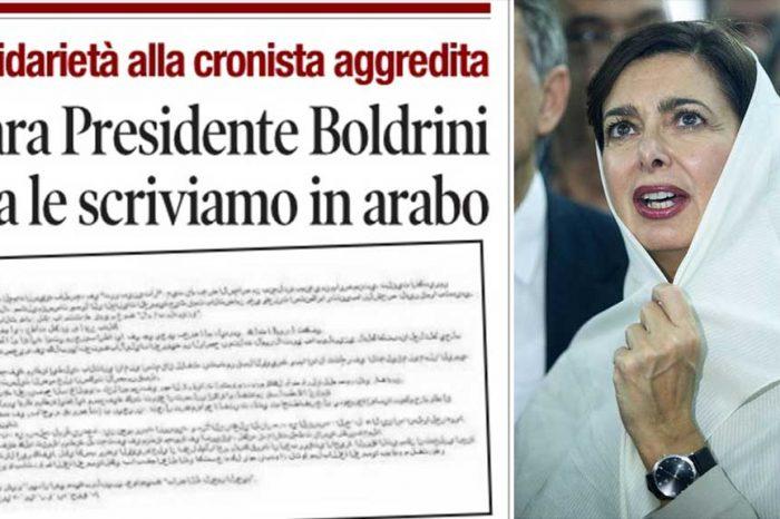 Il Tempo alla Boldrini: 'Cara Presidente, ora le scriviamo in arabo'