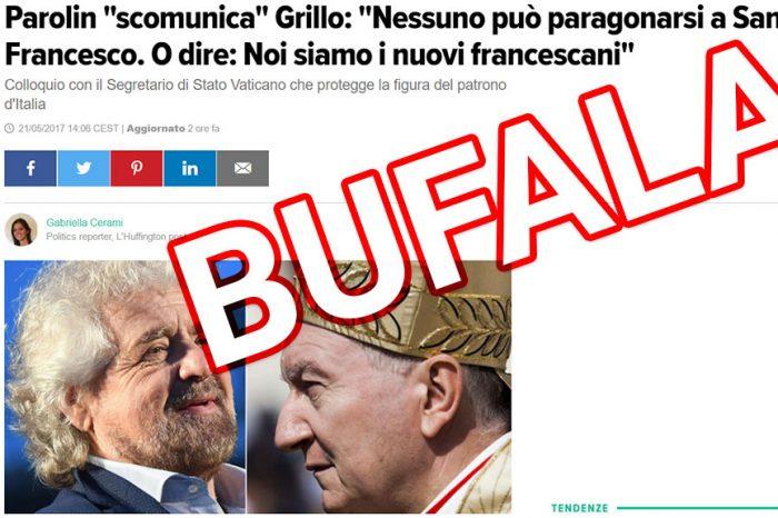 Il Vaticano scomunica Grillo? No è una fake news #SmascheriamoQuestiBuffoni