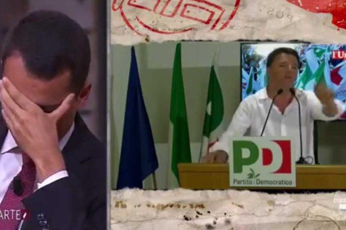 Renzi: 'Col Pd la più grande riduzione delle tasse degli ultimi anni'. Di Maio lo sbugiarda in diretta