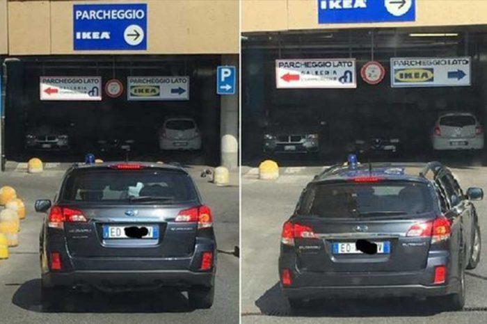 Roma, da Ikea con la famiglia e in auto blu e con il lampeggiante