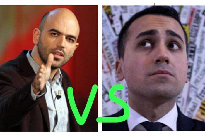 Candidato premier M5S: Saviano si scaglia contro Di Maio, ma la rete lo massacra