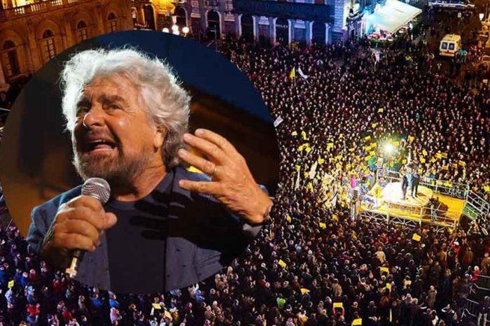 Piazza gremita per Beppe Grillo a Catania: 'Non è voto ma referendum'