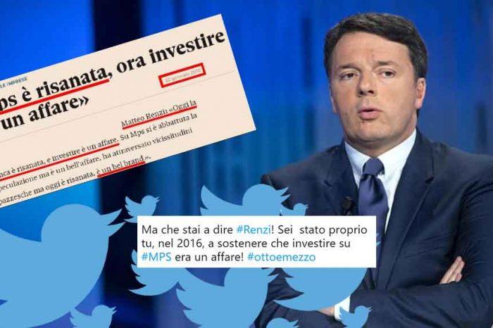 A Otto e Mezzo Renzi si erge a paladino dei risparmiatori, ma gli utenti lo svergognano