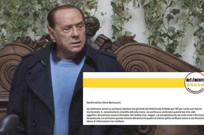 Esponenti M5S lasciano una lettera per Berlusconi a Palazzo Grazioli