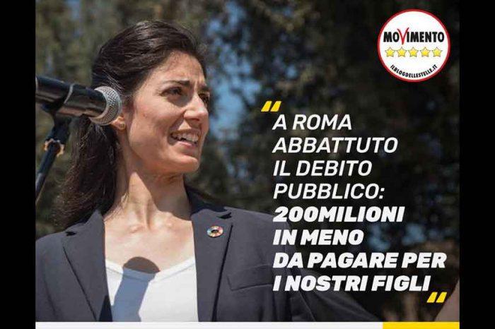 M5S: 'Abbattuto il debito pubblico di Roma, 200 milioni in meno'