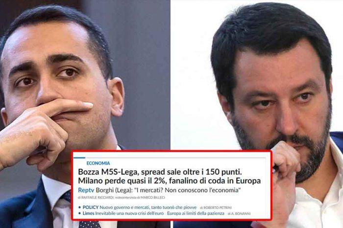 I giornali allarmano gli italiani: bloccate M5S e Lega