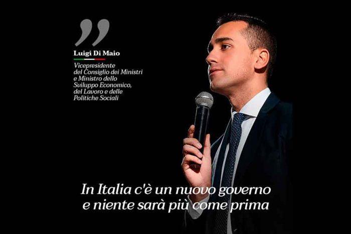 Di Maio: 'In Italia c'è un nuovo governo, e niente sarà più come prima'