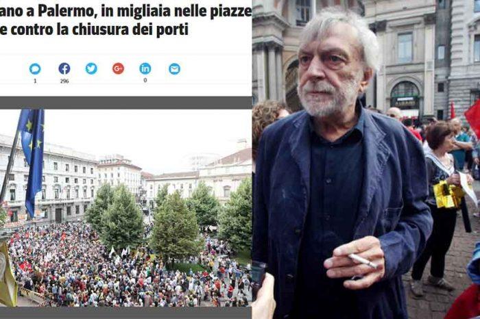 Gli italiani che manifestano contro l'Italia