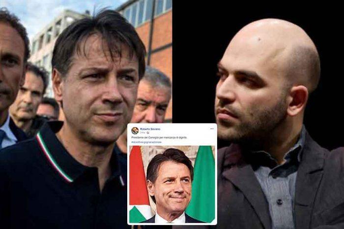 Diciotti, Saviano contro Conte: 'Presidente del Consiglio per mancanza di dignità'. Pioggia di critiche