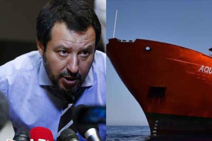 Salvini: 'La nave Aquarius non vedrà mai un porto italiano'