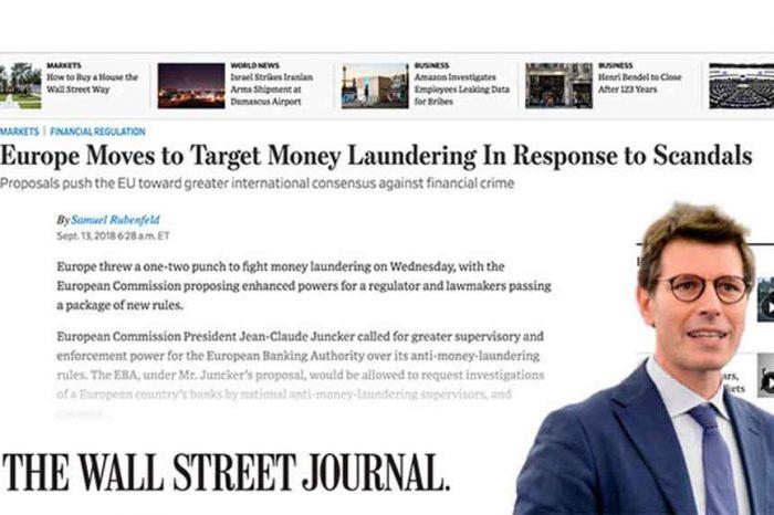 Anche il Wall Street Journal loda la Direttiva Antiriciclaggio del M5S