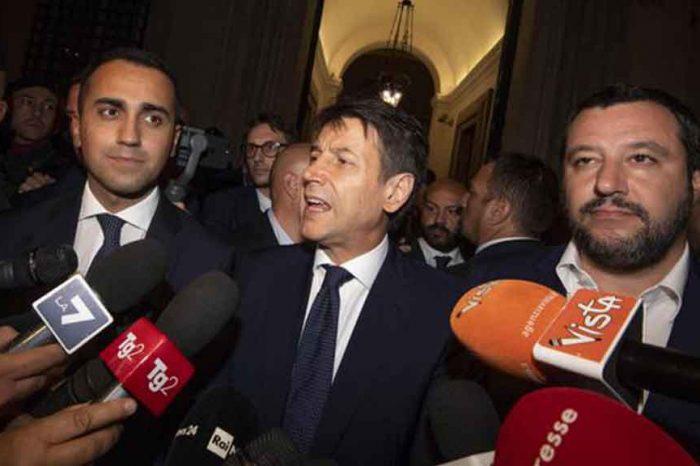 Di Maio-Conte-Salvini: 'Con la riforma quota 100 ci sarà più di un'assunzione per ogni pensionato'