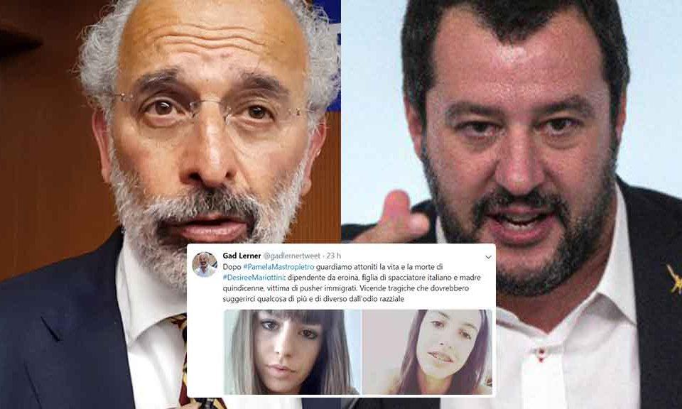 Salvini contro Gad Lerner per il tweet su Desiréè: 'Vergognati'