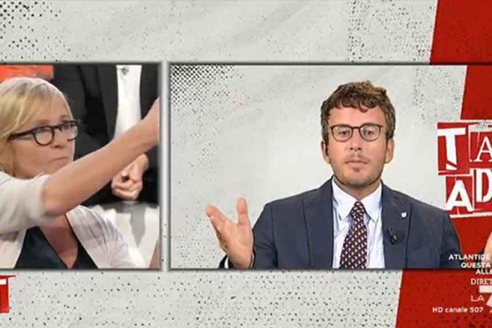 Tagadà, Meli: 'Il Governo non è stato eletto'. Diego Fusaro: 'La smetta di starnazzare'