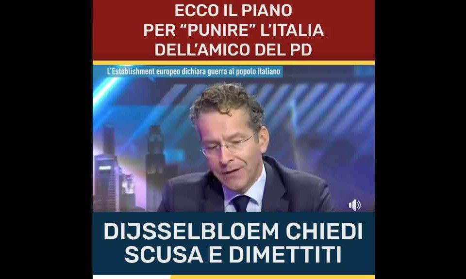 M5S, video a Dijsselbloem 'alterato'. Pd all'attacco:
