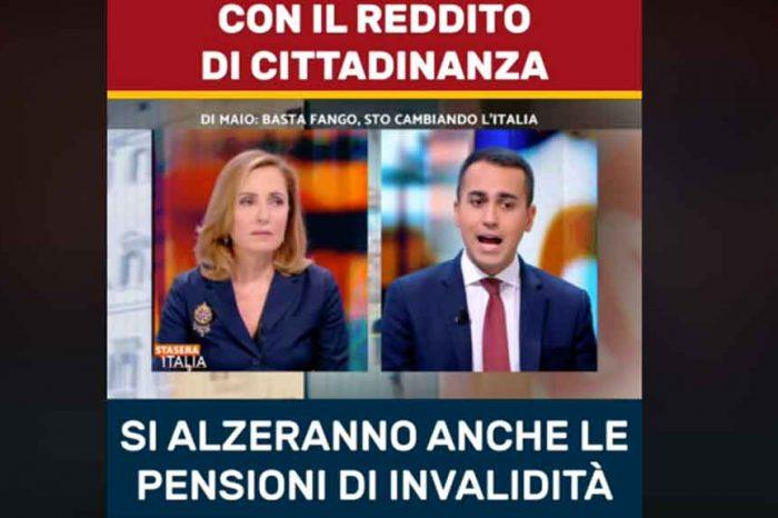 Di Maio: 'Grazie al sistema del Reddito, si alzeranno anche le pensioni di invalidità'