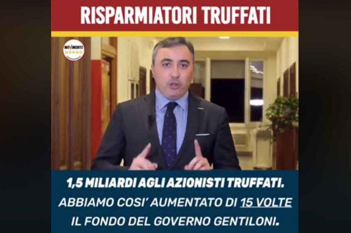 Risparmiatori truffati, M5S: 'Abbiamo stanziato 1,5 miliardi e cancellato ogni scudo per Consob e Banca d'Italia, i risparmiatori potranno rivalersi in giudizio'