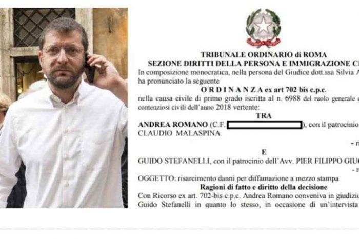 Andrea Romano condannato a risarcire l'editore dell'Unità: 'Già al lavoro con gli avvocati per il ricorso in appello'