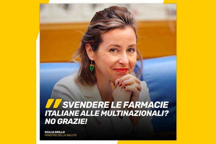 Il ministro della Salute Grillo: 'Difendo i nostri farmacisti che lavorano e pagano le tasse in Italia'