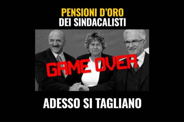 Pensioni d'oro sindacalisti, M5S: 'Game over: adesso si tagliano'