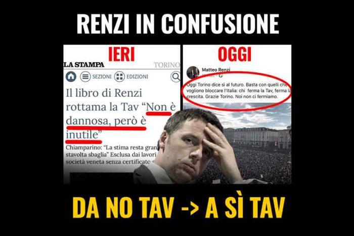 M5S: 'Renzi in confusione: da No Tav a Sì Tav'