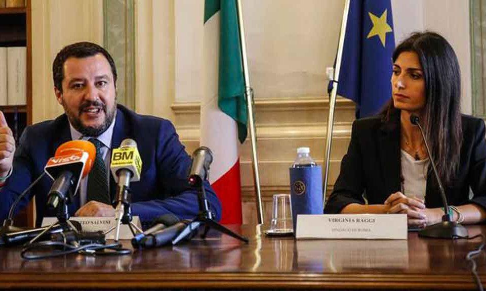 Salvini provoca ancora i 5Stelle. La Raggi replica: 'Magna tranquillo'. Ma avrebbe dovuto rispondere: 'Fa bene il ministro rimpatriando i migranti'