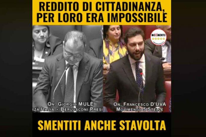Reddito di cittadinanza, M5S: «Per Forza Italia era impossibile: smentiti anche stavolta»