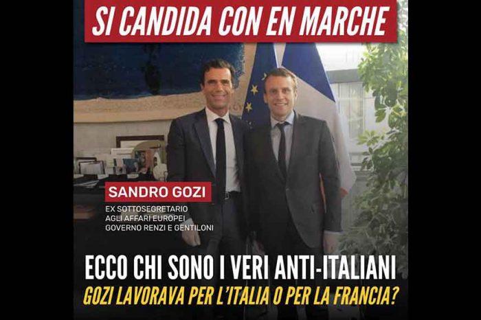 Sandro Gozi ex sottosegretario agli affari europei del Governo Renzi si candida in Francia con Macron, M5S: 'Questi sono i veri anti-italiani'