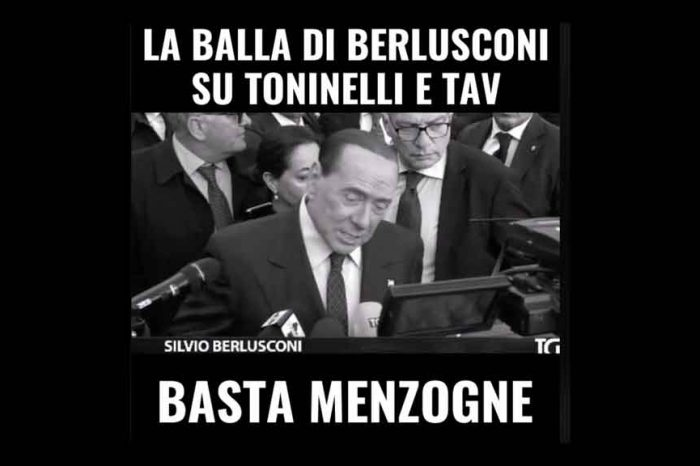 M5S: 'Berlusconi non perde il vizio: ennesima bugia sul TAV e su Toninelli'