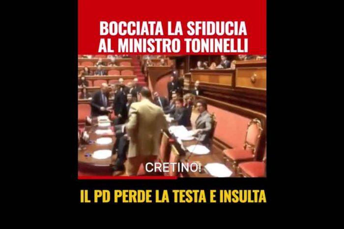 M5S: «Bocciata la mozione di sfiducia al ministro Toninelli: il Pd perde la testa e insulta»