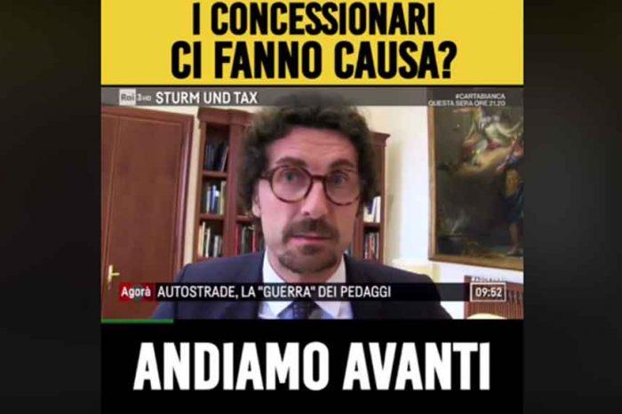 Extraprofitti, Il Ministro Toninelli: 'I concessionari ci fanno causa? Lo sapevamo, ma noi andiamo avanti'
