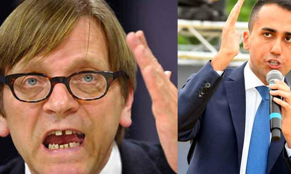 Verhofstadt: 'Non c'è spazio per il M5S nella nuova maggioranza europea'. La replica: 'I continui attacchi di questi lobbisti sono per noi una medaglia'
