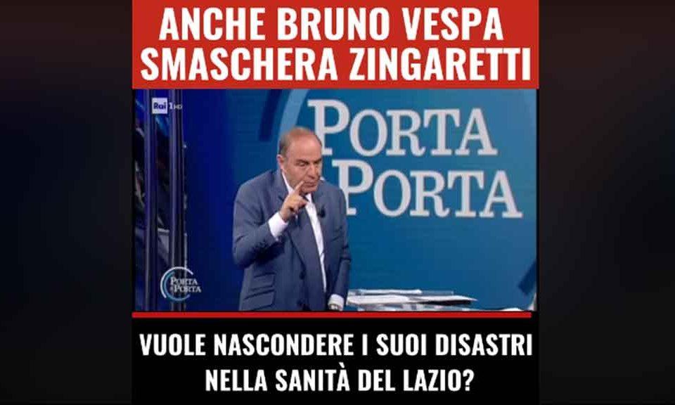 Porta Tv Lazio.Bruno Vespa Smaschera Zingaretti In Tv M5s Vuole