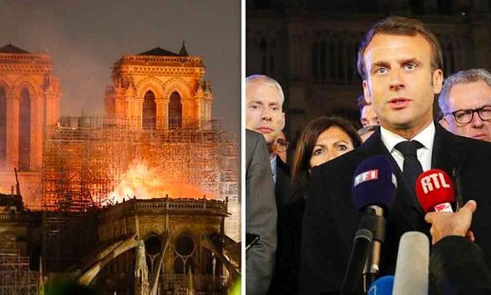 Il crollo della guglia della Cattedrale di Notre Dame simboleggia il crollo della Francia di Macron, l'alleato del PD. Scintillio per pochi oligarchi, miseria e tragedie per il popolo