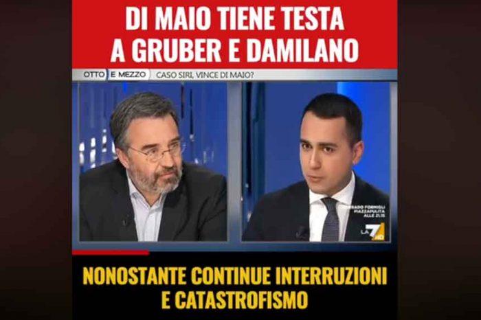 Di Maio tiene testa alla Gruber e a Damilano nonostante continue interruzioni e provocazioni