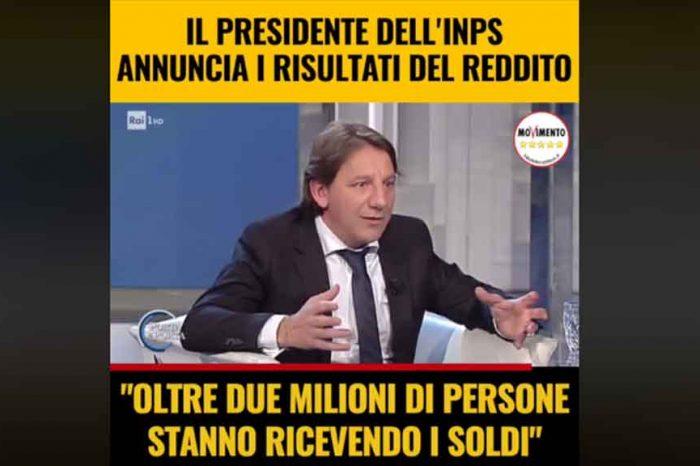 Il presidente dell'INPS annuncia i risultati del Reddito di Cittadinanza: 'Più di due milioni di persone ricevono soldi'