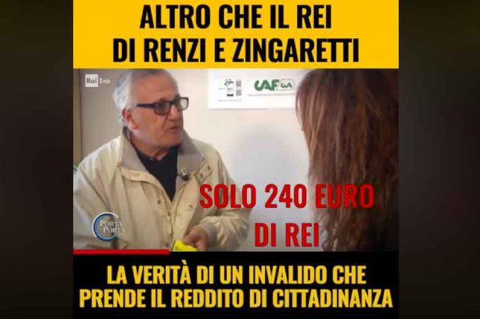 Reddito di Cittadinanza, la testimonianza di un invalido: 'Con la Rei prendevo 240 euro, ora con 1200 euro posso andare avanti'
